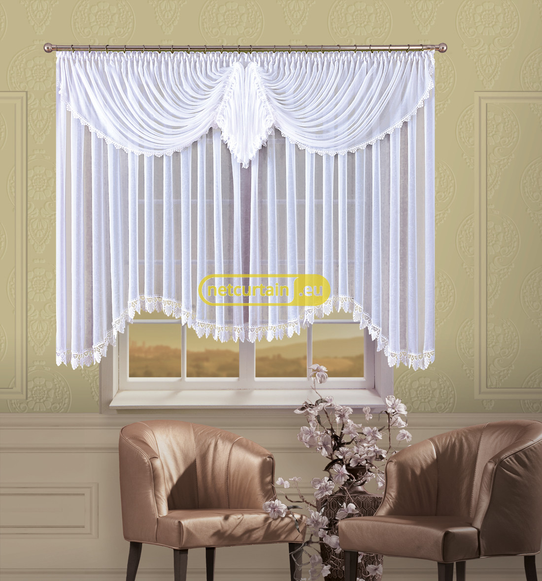 VEIL CRASH LIVING ROOM NET CURTAIN Width 400 Or 500 Cm, Height 160 Cm, OR  SEWN TO SIZE, 2 Colours, N734 Part 85