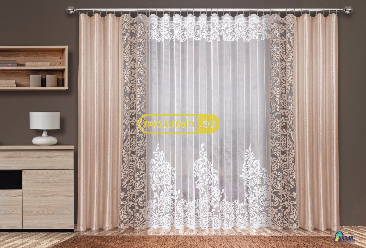 SET OF NET CURTAIN AND CURTAINS FOR LIVING ROOM, different ...