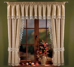 READY MADE CURTAINS WITH VALANCE laxen, width 150-220 cm, height 170 cm, N345