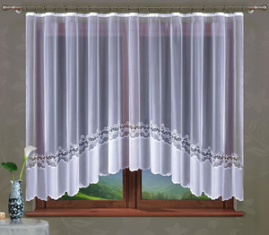 LIVING ROOM NET CURTAIN width 300 cm or 600 cm, height 160 cm, OR SEWN TO SIZE, N118