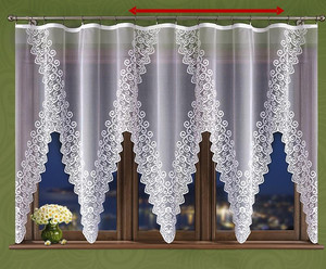 JACQUARD NET CURTAIN SOLD BY THE METRE height 150 or 180 cm, N20