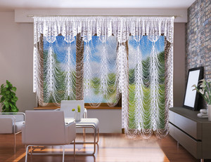 LIVING ROOM BALCONY NET CURTAINS, POSSIBLE FULL SET, N549