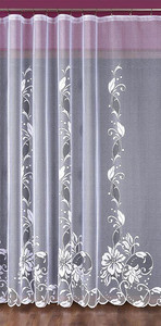 WHITE JACQUARD NET CURTAIN SOLD BY THE METRE, height 250 cm, N336