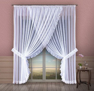 READY MADE VEIL NET CURTAINS 4 SIZES OR SEWN TO SIZE, N720