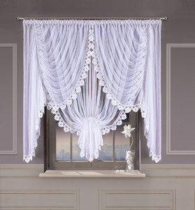 VEIL NET CURTAIN LIVING ROOM width 360 or 500 cm, height 160 cm, OR SEWN TO SIZE, 2 colours, N733
