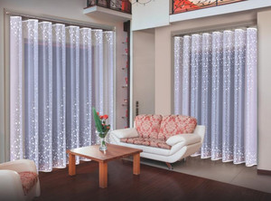 DOUBLE-SIDED JACQUARD NET CURTAIN SOLD BY THE METRE height 220 or 250 cm, N437