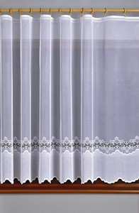 JACQUARD BALCONY NET CURTAIN SOLD BY THE METRE height 160, 180, 220, 250 cm, N174