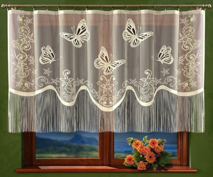 READY MADE JACQUARD NET CURTAINS width 250 cm, height 120 cm, N380