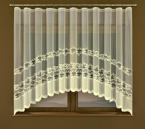 CREAMY NET CURTAIN width 300 cm, height 160 cm, OR SEWN TO SIZE, N180