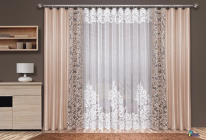 SET OF NET CURTAIN AND CURTAINS FOR LIVING ROOM, different widths, N323