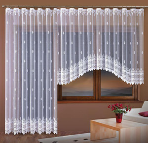 JACQUARD NET CURTAIN, POSSIBLE BALCONY SET, height 150 cm or 250 cm, N206