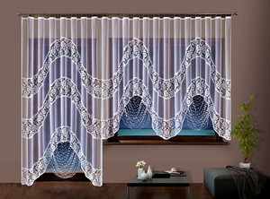 WHITE STRING CURTAIN, POSSIBLE BALCONY FULL SET, N197