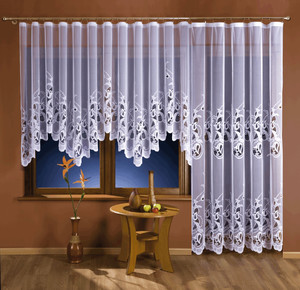 BALCONY JACQUARD NET CURTAIN SOLD BY THE METRE width 160, 230, 250 cm, N101