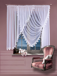 VEIL NET CURTAINS FOR LIVING ROOM width 400 cm, height 160 cm, OR SEWN TO SIZE, 2 colours, N771