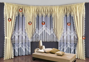 LIVING ROOM CURTAIN SET, EACH PIECE SOLD SEPARATELY, N107
