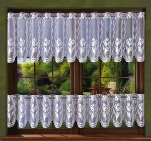 CAFE CURTAINS FOR KITCHEN SOLD BY THE METRE height 30, 60, 90 cm, N518