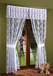 LIVING ROOM NET CURTAIN WITH VALANCE width 300 cm, height 220 or 250 cm, N230