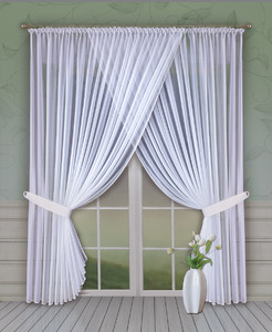 READY MADE VEIL CRASH NET CURTAIN height 160 cm or 250 cm, OR SEWN TO SIZE, 2 colours, N735