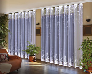 DOUBLE-SIDED JACQUARD NET CURTAIN SOLD BY THE METRE height 170 or 250 cm, N436