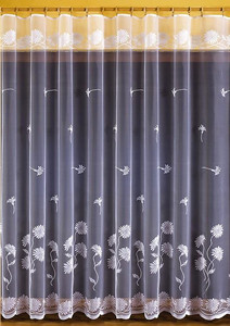 JACQUARD NET CURTAIN SOLD BY THE METRE height 150 or 250 cm, N72