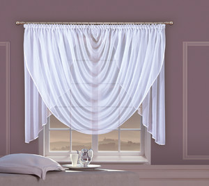 READY MADE VEIL CRASH NET CURTAINS width 400 cm, height 120 cm, OR SEWN TO SIZE, 2 colours, N726