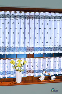 KITCHEN CAFE CURTAINS SOLD BY THE METRE height 35, 60, 90 cm, N254