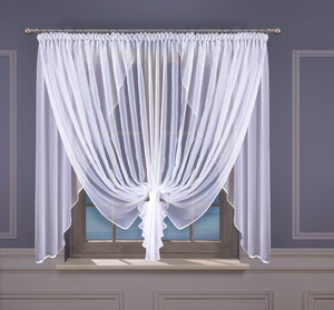READY MADE VEIL NET CURTAINS width 400 cm, height 150 cm, OR SEWN TO SIZE, N744